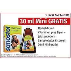 Sanostol plus Eisen – 30 ml Mini GRATIS
